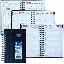 """2017 Brownline CB634V.BLK Duraflex Daily Planner Appointment Book, 8 x 5"""""""