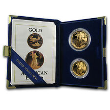 1987-P Proof Gold American Eagle 2 Coin Set - with Box and Certificate -SKU#7498