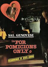 SAL GENOVESE disco LP 33 giri FOR POMICIONS ONLY  made in ITALY 1986
