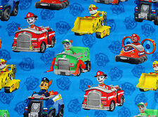 FAT QUARTER  PAW PATROL 100% COTTON FABRIC FQ  RUBBLE SPIN MASTER  DAVID TEXTILE