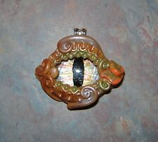 Fantasy Dragon Eye Necklace, Glow in the dark eye Handmade W/Polymer Clay #G24