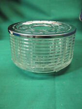 Vintage Silex Candle Warmer Glass Chrome for Coffee Tea Pot Carafe