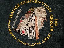 31st National Narrow Gauge Train Convention Hickory Denim Button Front Size L