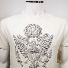 RALPH LAUREN DENIM & SUPPLY American Eagle U.S. Seal T-Shirt NATURAL Size L NWT