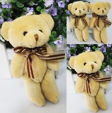 Cute Adorable Soft Plush Stuffed Mini Brown Ribbon Teddy Bear Toys Bouquet lxl#