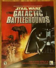 Star Wars Galactic Battlegrounds Promotional Marketing Poster 22×28