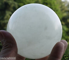 80mm +stand Glow In The Dark Stone crystal Fluorite sphere ball (Iceland SPAR)