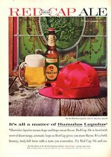 1960 Carling's Red Cap Ale Vintage Bottle Matter of Humulus Lupulus  PRINT AD