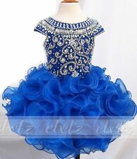 Hot Sale Infant/toddler/baby/children/kids glitz Girl Pageant Dress tutu cupcake