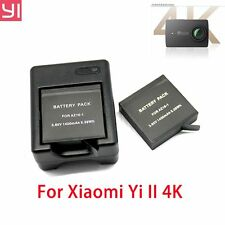 Xiaomi Yi  2 4K Action Camera Rechargeable Battery 2pcs with Dual USB Charger