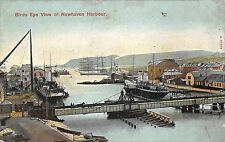 BR64357 birds eye view of newhaven harbour ship bateaux