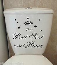 The Best Seat removable waterproof toilet lid wall stickers Decals Decoration