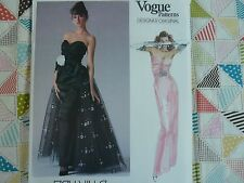 Vogue 1853 Designer  Bellville Sassoon formal maxi dress Sewing Pattern size 14