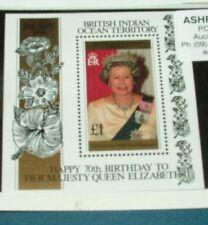 British Indian Ocean Terr. - 1996  Compleanno Regina  -  minifoglio   ** MNH