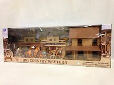 The Big Country Western Town Deluxe Playset w/ Gunfighters, Stage Coach, Wagons