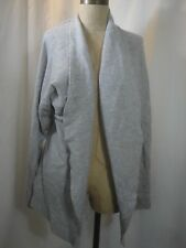TAHARI Open Front 2-Ply 100% Cashmere Cardigan Sweater Size XL