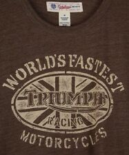 Lucky Brand Triumph Racing World's Fastest Motorcycle Mens T-Shirt Size Medium