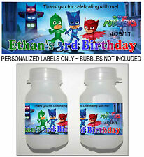 30 PJ MASKS BIRTHDAY PARTY FAVORS BUBBLE LABELS