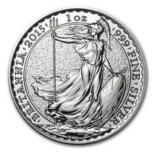 British Royal Mint UK £2 Britannia 2015 1 oz .999 Silver Coin