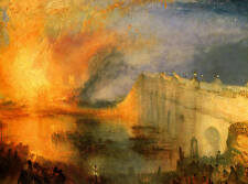 Burning Houses of Lords & Commons Turner Giclee Print Choose size Canvas or Art
