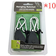 10PCS Heavy Duty Adjustable Hydroponics Rope Ratchet Light Reflector Hanger