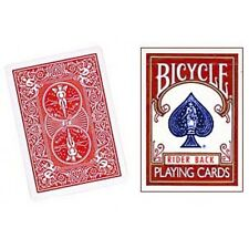 DOUBLE BACK RED/RED 808 RIDER BACK BICYCLE DECK OF PLAYING CARDS MAGIC TRICKS