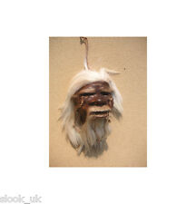 Real Skin and Hair Shrunken Head Tsantsa Voodoo VW Hot Rod Custom Spooky Horror