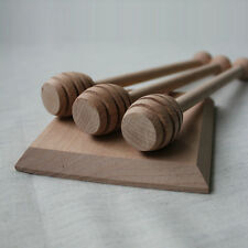 1pc Hand Made Wooden Honey Dipper Stick Drizzle Server Honey Muddles Scoop