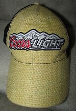 Coors Light Beer Licensed Trucker Mesh Baseball Hat Cap Weave Pattern EUC