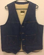Wrangler Vintage Denim Large Winter Outdoor Warm Vest