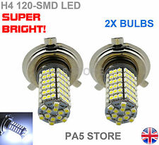2x H4 AMPOULES LED 120-smd Super Bright Blanc Brouillard DRL Lampe Circulation Diurne UK