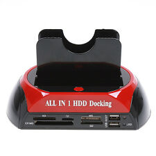 "Hi speed USB2.0 2.5"" 3.5"" SATA/IDE HDD 2-Dock Docking Station e-SATA Hub"