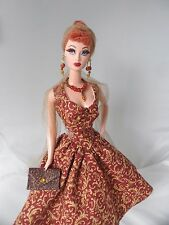 Handmade Barbie Clothes 50s Style Hollywood Glamour Dress Set for Vintage Barbie