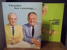 "Set of Two Fred Waring Books ""Beginning the Next Fifty Years""Thanks for Coming"