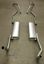 1955 CADILLAC DUAL EXHAUST SYSTEM, 304 STAINLESS, WITHOUT RESONATORS