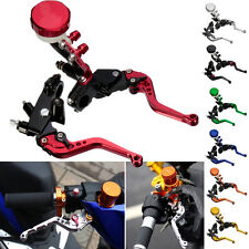 Universal Motorcycle Front Brake Clutch Master Cylinder Levers Set Reservoir NEW