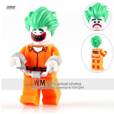Joker Arkham Batman Movie custom minifigure Fits Lego  - TRUSTED UK SELLER