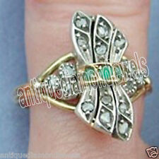 2.10cts ROSE CUT DIAMOND EMERALD .925 STERLING SILVER / RING