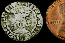 P541: Edward III Hammered Silver Penny : Pre-Treaty, Series A, im Cross Patee