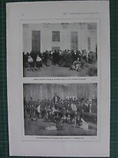 1917 WWI WW1 PRINT ~ RUSSIAN PEASANTS PRAYING ALLIED VICTORY MOSCOW MOBILISATION