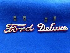 1940 FORD & DELUXE HOOD SIDE EMBLEMS