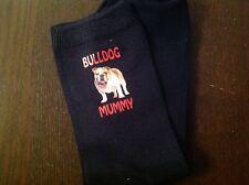 BULLDOG MUMMY SOCKS BIRTHDAY GIFT MOTHERS DAY PRESENT DOGS MUM BULL DOG BRITISH