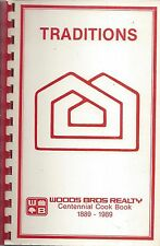 *LINCOLN NE 1989 TRADITIONS COOK BOOK *WOODS BROS REALTY & FRIENDS *NEBRASKA