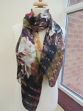 NEW!!!100% Silk Ted Baker Technicolour Bloom long silk Scarf  - BEAUTIFUL!!!