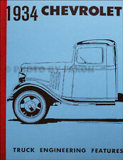 1934 Chevrolet Truck Engineering Features Manual Chevy Pickup Panel Express Book