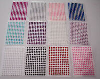 176 X 2/3/4MM SELF ADHESIVE HALF BACK PEARLS STICK STICKY ON GEMS EMBELISHMENT