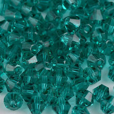 100pcs Hole green exquisite Glass Crystal 4mm #5301 Bicone Beads loose beads #5