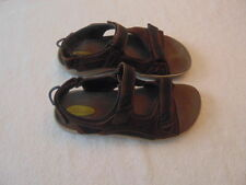 Men's Clarks Wave Brown Leather Strappy Sandals-9M