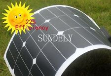Semi-Flexible Sunpower 50w 50 Watt Lightweight Solar Panel 12v Battery Off Grid