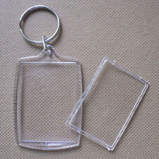 5x Plastic Clear Blank Photo Picture Frame Gifts Keyring keychain New